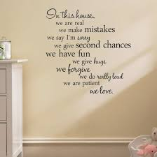 house rules quote wall stickers home decor living room diy wall