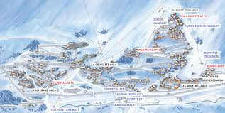ideal resort map alpine charms ski chalets and apartments in les menuires 3
