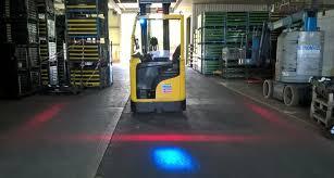 blue warning lights on forklifts safety lights fork truck control