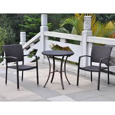 Outdoor Bistro Chairs International Caravan Barcelona Resin Wicker Bar Height Bistro Set
