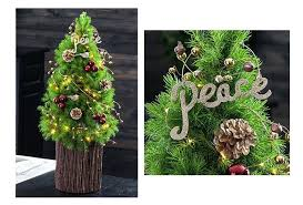 top best tabletop trees artificial decorating ideas real