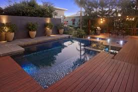 mesmerizing wood deck kits for pools with glass mosaic pool tiles