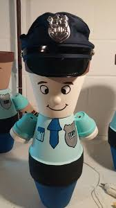 halloween clay pot crafts police officer pot person clay pots pinterest clay craft