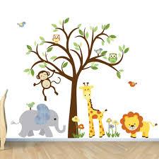 Monkey Nursery Wall Decals Room Wall Decal Safari Animal Decal Nursery Wall Decal