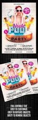 pool party flyer template by mikkool graphicriver
