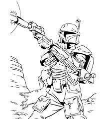 print star wars coloring pages bounty hunter download star wars