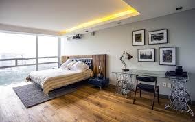 plafond chambre a coucher plafonds faux plafond blanc éclairage intégré jaune chambre coucher