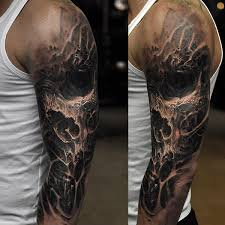 50 skull sleeve tattoos for masculine design ideas