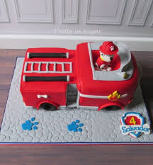marshall fire truck paw patrol cakecentral