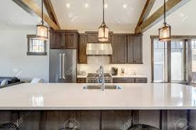 white kitchen cabinets with wood beams amazing modern and rustic luxury kitchen with vaulted ceiling