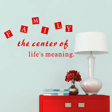 family the center of life meaning diy quotes art vinyl wall mural