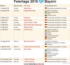 Kalender 2018 Bayern Gesetzliche Feiertage Feiertage Bayern 2017 2018 2019 Mit Druckvorlagen