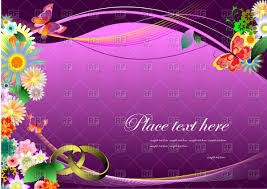 wedding invitation background free download wedding invitation with flowers on purple wavy background vector