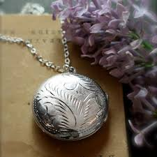 sterling silver large necklace images Round locket necklace sterling silver from tforedgar on etsy jpg