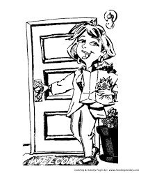 mother u0027s day coloring pages mom shops for groceries coloring