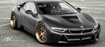 Dub Magazine Matte Black Wrapped Bmw I8