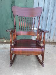 Rocking Chair Used John Mark Power Antiques Conservator Mahogany And Maple Rocking