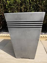 Tall Plastic Planters by Uk Gardens Antique Grey Resin Plastic Garden Planters Tall Large