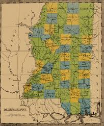 Map Of Mississippi River State Of Mississippi Ancestral Trackers Maps