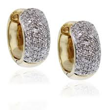 diamond huggie earrings 14kt yellow gold diamond huggie earrings
