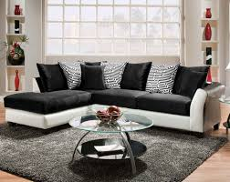 Black And White Sectional Sofa Home Design Black And White Pattern Pillows Zigzag 2