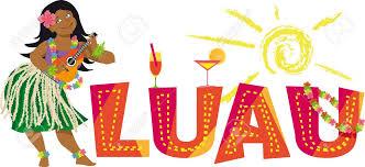 luau party luau party banner with a hula dancer ukulele eps 8