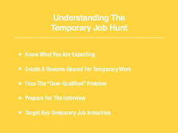 Resume Temporary Jobs The Essential Guide To Finding Temporary Jobs
