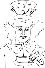 mad hatter coloring pages coloring pages mad hatter coloring pages