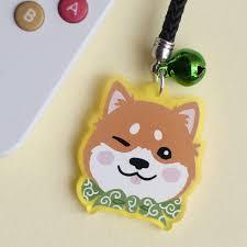 Shiba Inu Christmas Ornament Shiba Inu Dog Acrylic Phone Charm Japanese Shibainu Cute