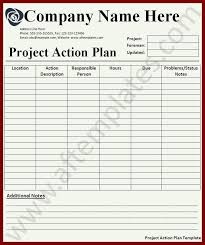 16 project action plan template sendletters info