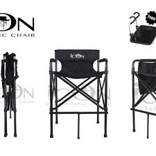 portable makeup chair with side table icon ultra portable and lightweight telescopic makeup chair with
