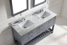 60 Inch Double Sink Bathroom Vanities by Virtu Md 2260 Wmsq Gr Caroline Estate Double Bathroom Vanity
