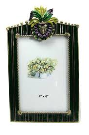 mardi gras collection mask harlequin frame austrian crystal and