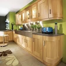 Kitchens With Oak Cabinets Green Kitchen Walls Oak Cabinets Howiezine