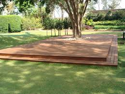 deck around tree landscape traditional with wood outdoor benches