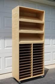 Craft Storage Cabinet White Craft Paper Punch Storage Cabinet Diy Projects