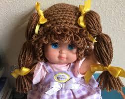 Cabbage Patch Kids Halloween Costume Crochet Newborn Wig Etsy