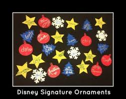 disney character signature ornaments
