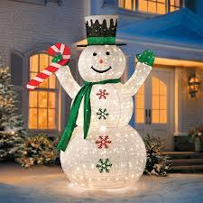 6 collapsible snowman led outdoor decoration