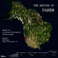 Hunger Games District Map Map Of Panem Hunger Games The Rpg