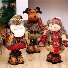 standing large retractable santa claus snowman reindeer figurine