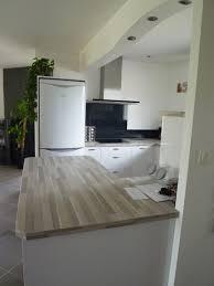 cuisine noir laqué plan de travail bois cuisine grise plan de travail bois luxury plan de travail bois
