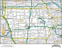 iowa map with cities iowa map