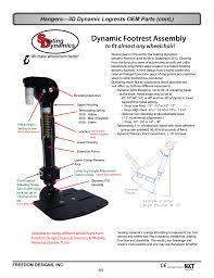 dynamic footrest assembly ynamics freedom designs freedom