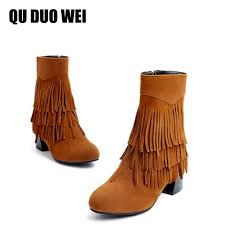 Brown Fringe Ankle Boots Online Get Cheap Fringe Ankle Boots Aliexpress Com Alibaba Group