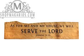 personalized signs for home decorating serve the lord