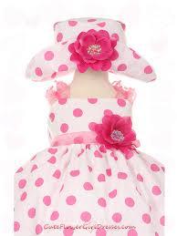 blue cute cotton polkadot infant dress