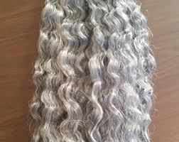 grey hair extensions grey hair extensions etsy