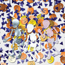 halloween table confetti haunted mansion halloween party table