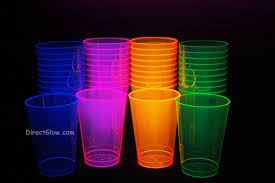 blacklight party supplies assorted neon blacklight reactive 12oz party cups 40ct party